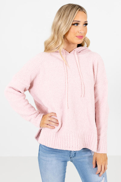 Women's Pink High-Low Hem Boutique Hoodies
