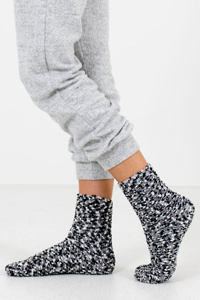 Black Multicolored Boutique Socks for Women