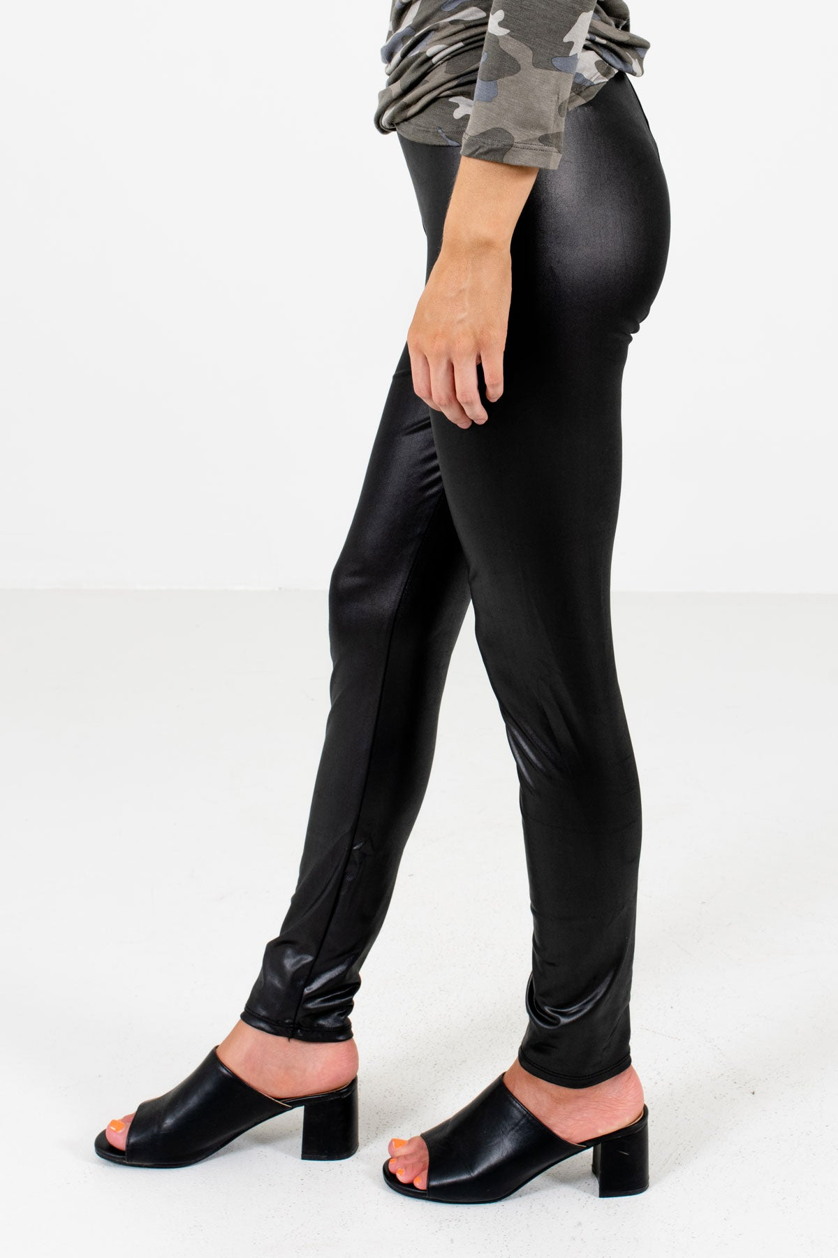 Black High-Quality Stretchy Material Boutique Leggings for Women
