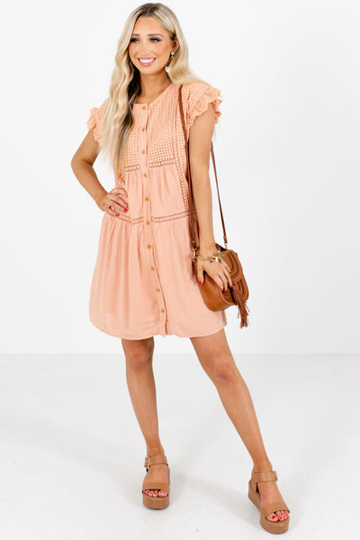 Women's Peach Spring and Summertime Boutique Clothing