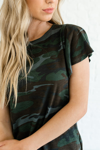 Green Camo Affordable Online Boutique Clothing for Women
