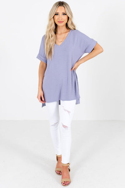 Women's Lavender Purple Fall and Winter Boutique Clothing