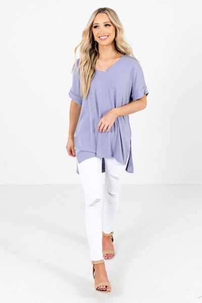 Lavender Purple Cute and Comfortable Boutique Tops for Women