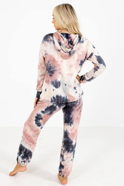 Women's Tie-Dye Drawstring Hood Boutique Hoodies
