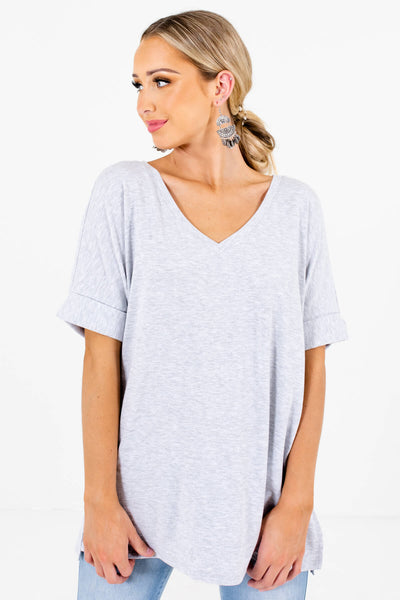 Women's Heather Gray Boutique Basics