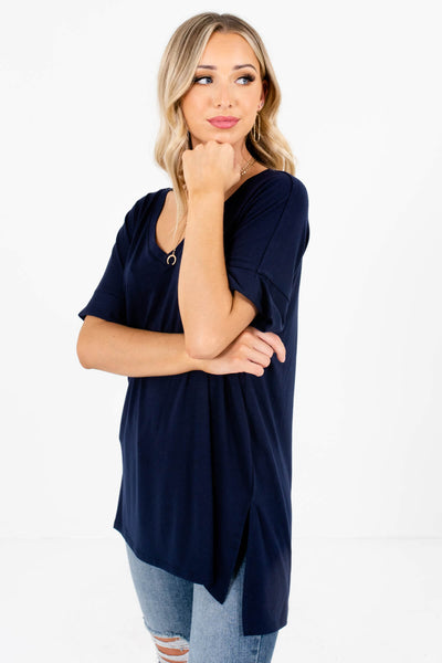 Women's Navy Blue Boutique Basics