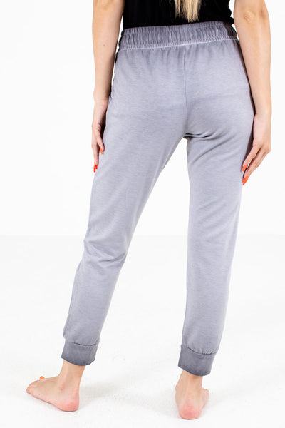 Women's Gray Jogger Style Boutique Lounge Pants