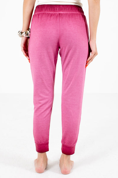 Women's Pink Boutique Lounge Pants with Pockets