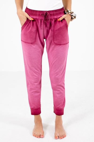 Pink Drawstring Waistband Boutqiue Lounge Pants for Women