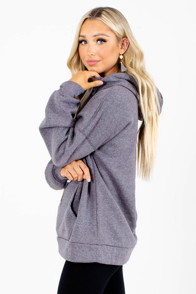 Navy Cute and Comfortable Boutique Hoodies for Women