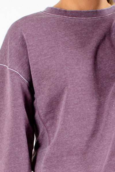 Purple Fleece-Lined Boutique Pullovers for Women
