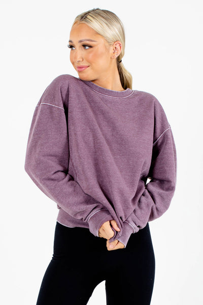 Purple Cute and Comfortable Boutique Pullovers for Women