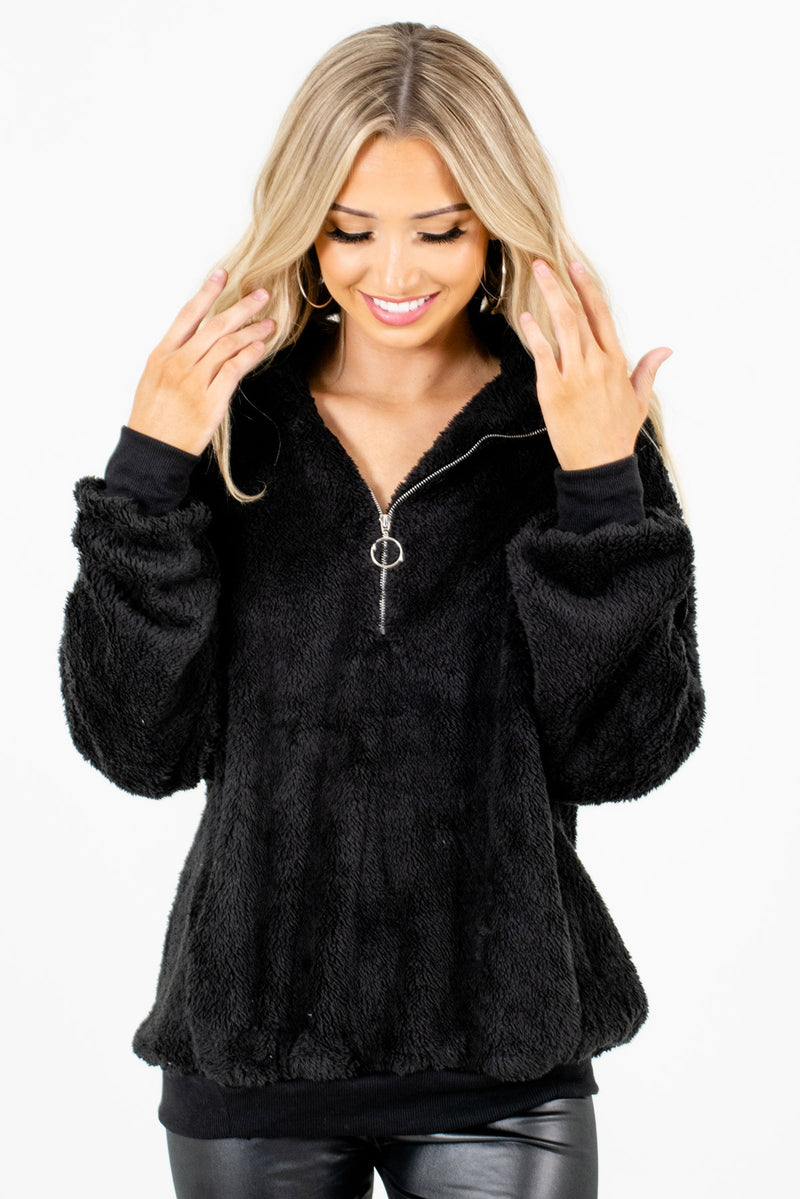 Cozy Season Black Pullover