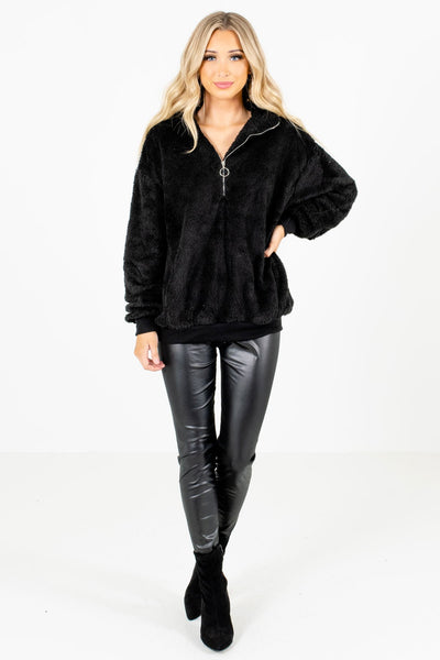 Black Cute and Comfortable Boutique Pullovers for Women