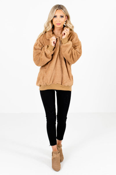 Women's Tan Brown Fall and Winter Boutique Clothing