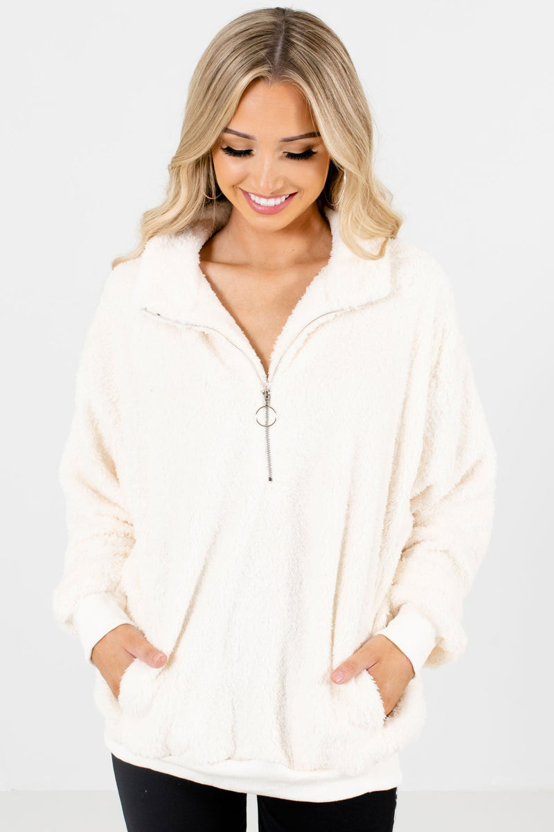 Cozy Season White Pullover