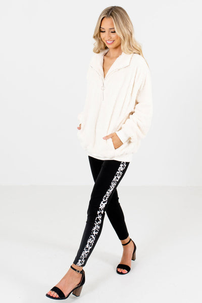 White Cute and Comfortable Boutique Pullovers for Women