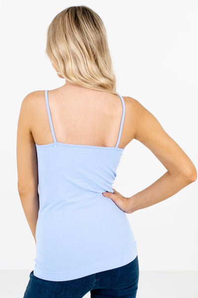Women's Light Blue Layering Boutique Tank Tops