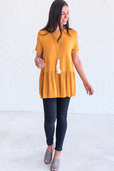 Mustard Yellow Business Casual Women's Clothing