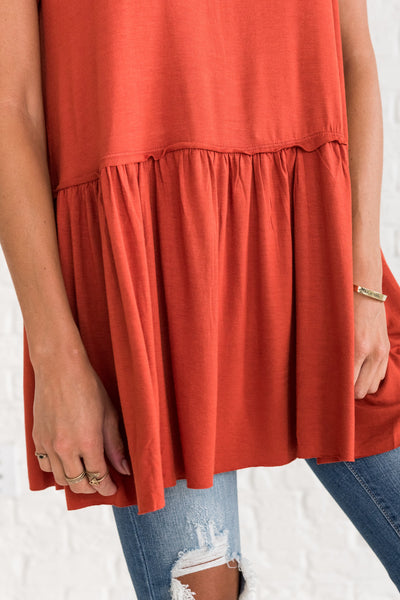 Rust Orange Business Casual Clothing for Women