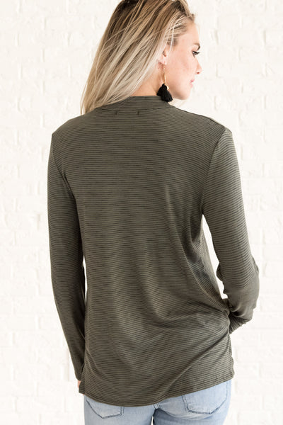 Olive Green Casual Women's Fall Clothing