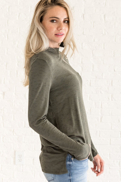 Olive Green Comfortable Women's Clothing