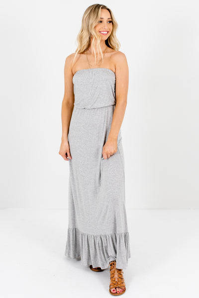 Women's Heather Gray Spring and Summertime Boutique Clothing