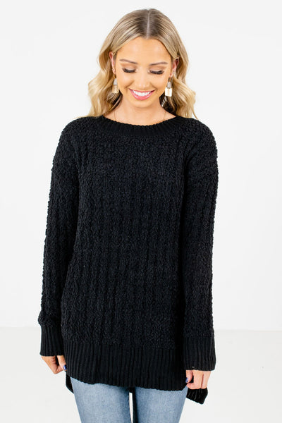 Women's Black Casual Everyday Boutique Sweater