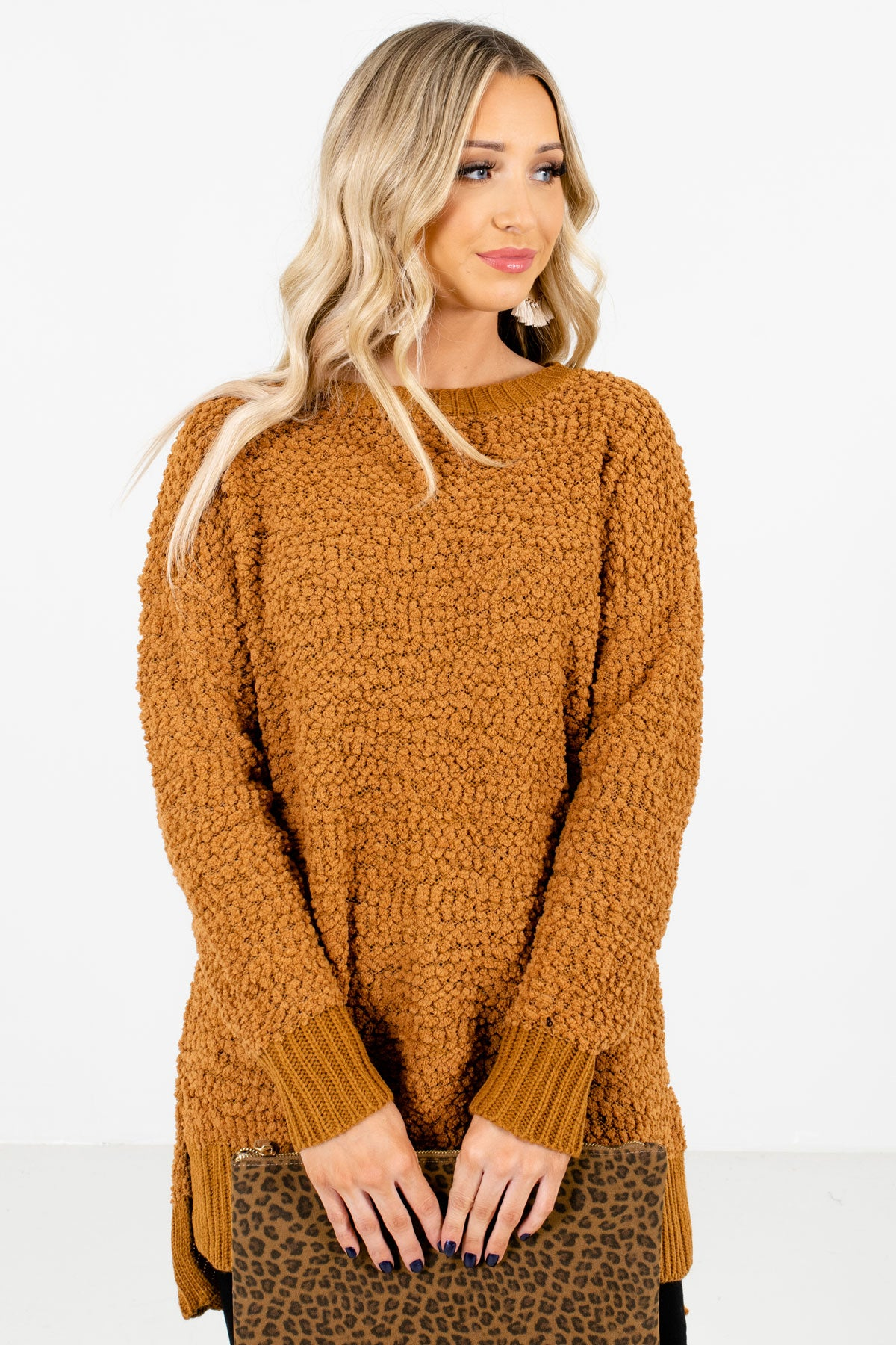 Women's Mustard Warm and Cozy Boutique Sweaters