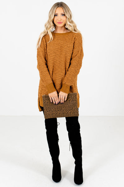 Mustard Cute and Comfortable Boutique Sweaters for Women