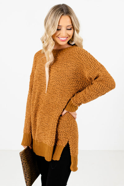 Women's Mustard Casual Everyday Boutique Sweater
