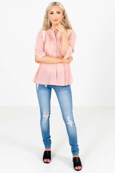Pink Cute and Comfortable Boutique Shirts for Women
