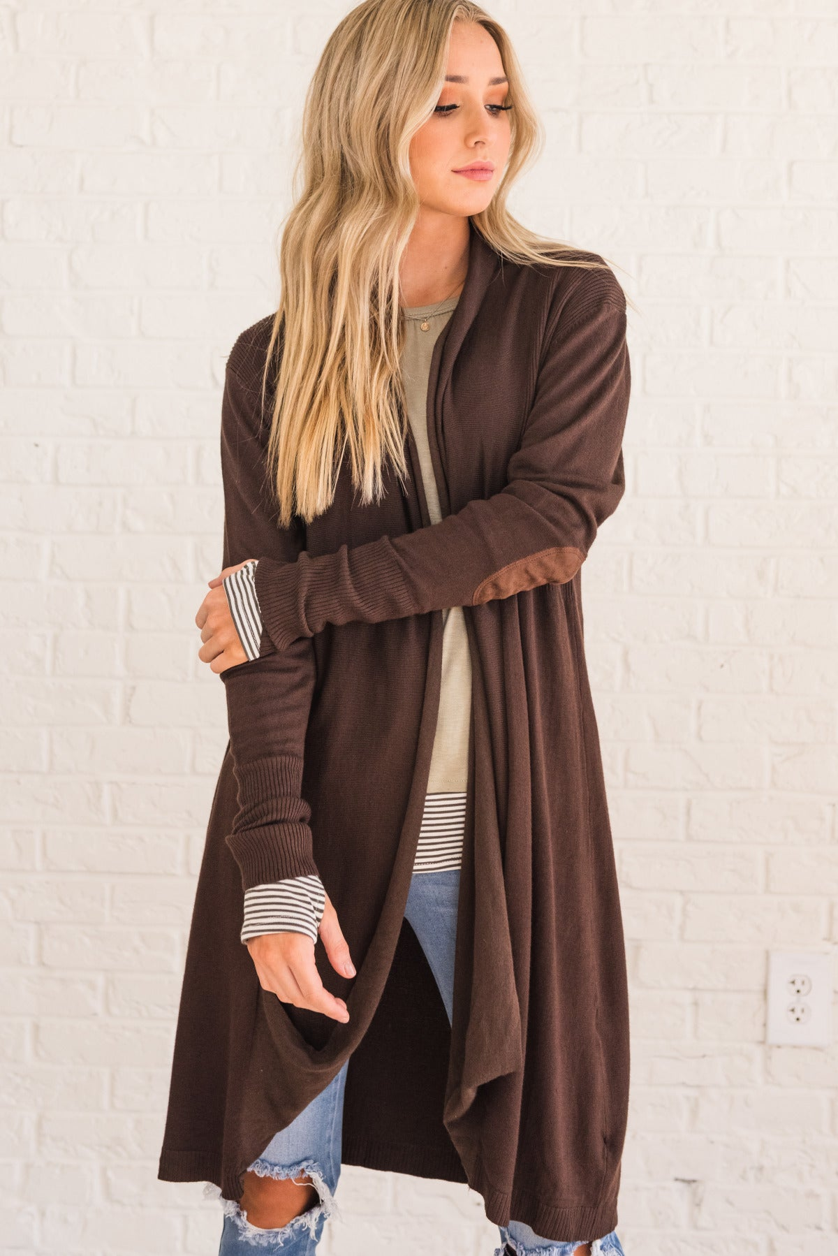 Brown High-Quality Boutique Cardigans for Women