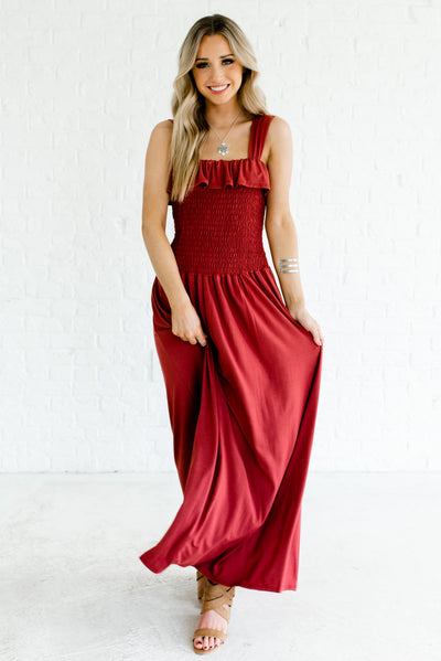 Brick Red Women's Spring and Summertime Boutique Clothing