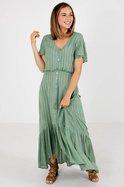Green Cute and Comfortable Boutique Maxi Dresses for Women