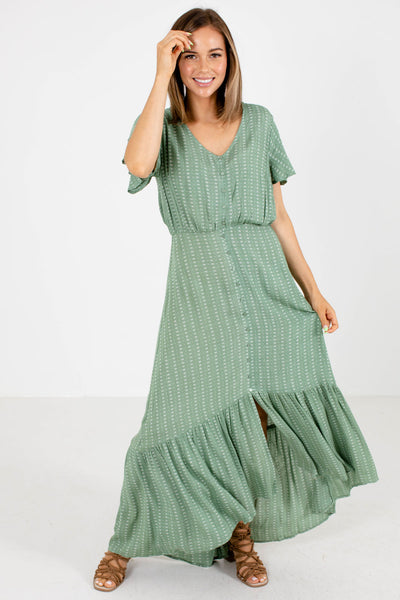 Women's Green Spring and Summertime Boutique Clothing