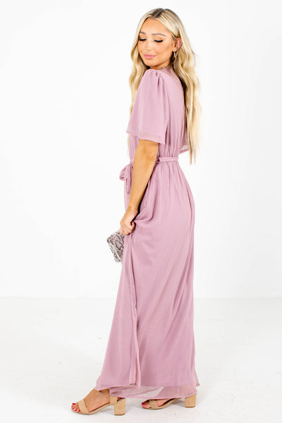 Women's Pink Date Night Boutique Maxi Dress