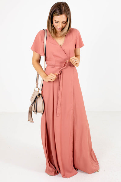 Women's Pink Lightweight Boutique Maxi Dress