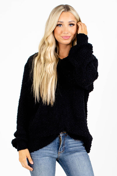 Black Casual Everyday Boutique Sweater