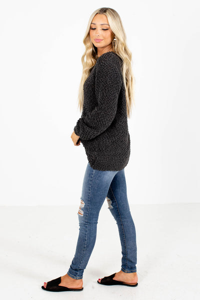 Women's Gray Oversized Boutique Sweater