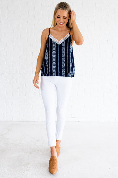 Women's Navy Blue Spring and Summertime Boutique Clothing