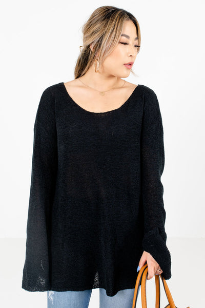 Women's Black Casual Everyday Boutique Sweaters