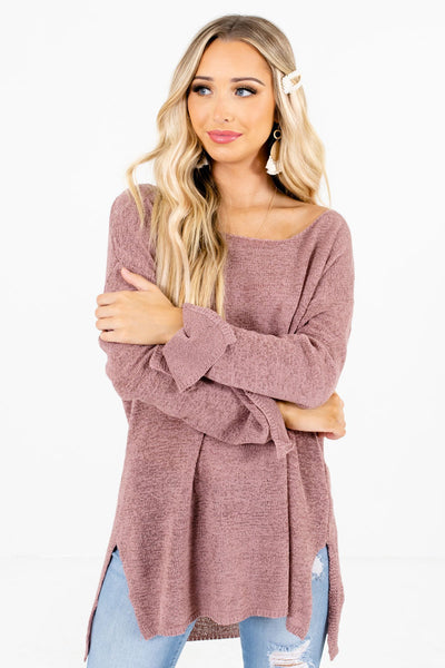 Mauve Cute and Comfortable Boutique Sweaters for Women