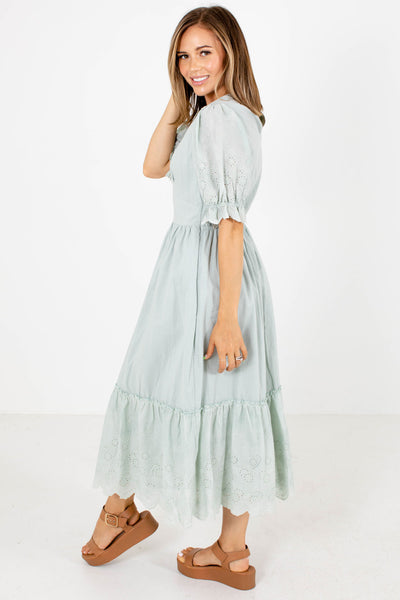 Day Dreamer Eyelet Midi Dress