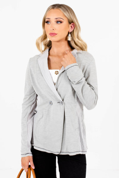 Sage Green Cute and Comfortable Boutique Blazers for Women