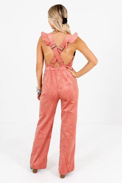Women's Pink Overall Style Boutique Jumpsuits