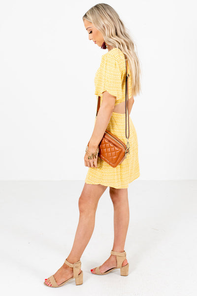 Yellow Cute and Comfortable Boutique Mini Dresses for Women