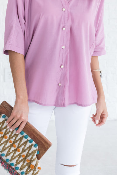 boutique blouse with short sleeves