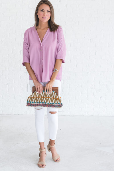 lightweight boutique blouse with buttons