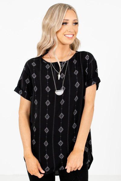 Women's Black High-Quality Lightweight Material Boutique Top